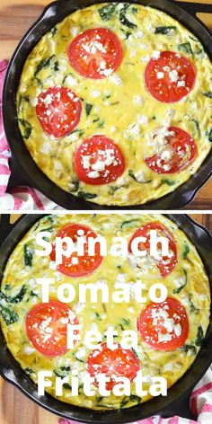Spinach Tomato Feta Frittata recipe is an easy to make that's so delicious! Perfect for Easter brunch and healthy from Serena Bakes Simply From Scratch. Easter Recipes, Appetizer Recipes, Keto Recipes, Vegetarian Recipes, Cooking Recipes, Healthy Recipes, Easter Appetizers, Recipes With Feta, Feta Cheese Recipes