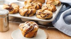 With a quick swipe of prepared hazelnut spread and a scattering of nuts, turn refrigerated crescent rolls into a delicious treat.