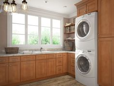 Pecan Shaker - Ready to Assemble laundry room Cabinets - Laundry Room Cabinetry - All Home Cabinetry
