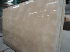 Polished Cloudy Cream Marble Slabs