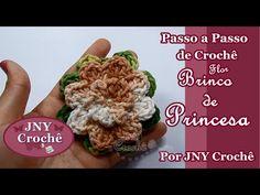 Passo a Passo de Crochê Flor Brinco de Princesa por JNY Crochê
