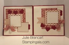 Julie Brancart, www.stampingala.com, Monthly Scrapbook Club, Stampin Up