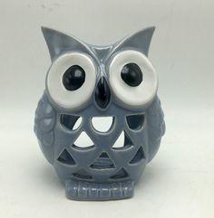 Owl Cut-work Design Ceramic Tea Light Candle Holder Outdoors by Design New