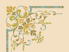 ceiling motif stencil