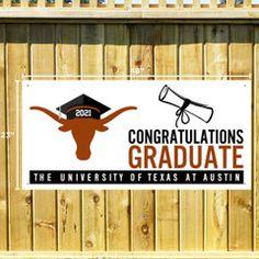 Featured: New, Parent: Gifts, Men, Unisex, Women Texas Longhorns T Shirts, Congratulations Graduate, University Of Texas, Graduation, Banner, Parenting, Parent Gifts, Writing, Unisex