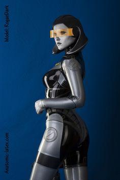 Mass Effect EDI latex costume cosplay