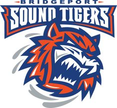 Bridgeport Sound Tigers Primary Logo on Chris Creamer's Sports Logos Page - SportsLogos. A virtual museum of sports logos, uniforms and historical items. Hockey Logos, Sports Team Logos, Hockey Teams, Sports Teams, Ice Hockey, Nhl, Providence Bruins, American Hockey League, Hershey Bears