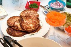 Ohrablinejä ja muikun mätiä Food Blogs, French Toast, Breakfast, Breakfast Cafe