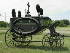 Antique Funeral Hearse