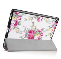 iPad Pro 9.7 Leather Case Peony Flower Stand Cover For iPad Pro 9.7