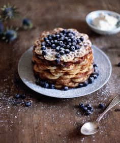 Waffles with blueberries by Emma Sundh
