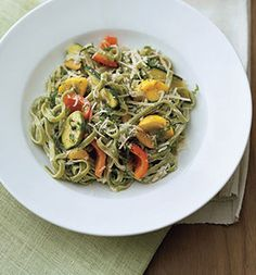Spinach Fettuccine with Yogurt