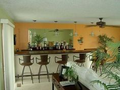 Custom Wet Bar in Family Room @ 5435 Oakridge, Beaverton, MI  Wixom Lake!