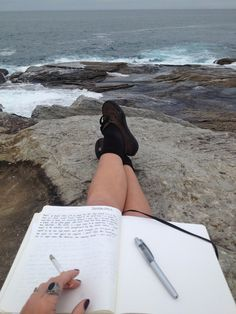 This is not me but being on a rock on the edge of the ocean is my favorite place to be alone with God as I write my prayers out to Him!  It is there that He inspires me to write about His wonderful world and it is there He speaks His eternal truth to me.