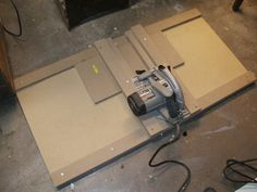 simple fixed angle saw table