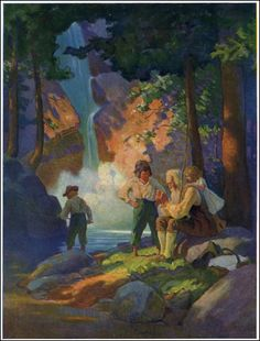 """Illustration from """"Rip Van Winkle,"""" by Washington Irving (1921)"""