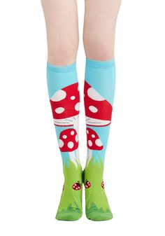 So need these in my life! Toadstool, Calm, and Collected Socks, #ModCloth