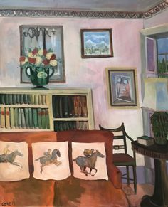 New works are available by Lottie Cole. After a successful solo show last year, Cole continues to go from strength to strength. Her unique and intelligent works focus on paintings within paintings. View more via link in image. _________________ Lottie Cole Interior with three racing horses Signed Oil on canvas 44 7/8 x 41 in 114 x 104 cms (LC089) #lottiecole #art #artgallery #artworks #painting #artist #londonart #artlondon