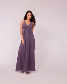 Seraphine Luxe Range - Long Lilac Beaded Maternity Evening Dress