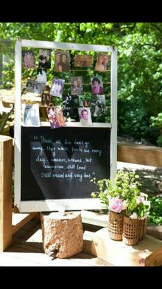 Rustic wedding memorial idea