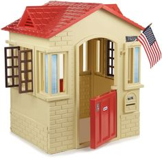 Little Tikes Tan Cape Cottage Playhouse Arched Doors Modern Windows Hours Of Fun…