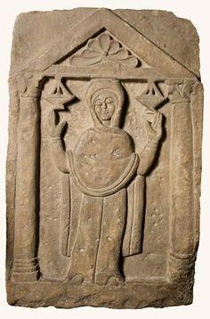 Gravestone. 5th C. Coptic Museum, Cairo.