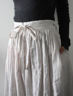 linen skirt with tie waist Looks Style, Style Me, Magnolia Pearl, Yohji Yamamoto, Frocks, What To Wear, Style Inspiration, Boho, Casual