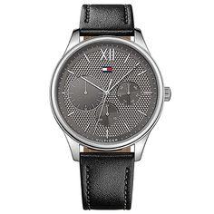 eb58ffc5484 Relógio Tommy Hilfiger Masculino Couro Preto - 1791417