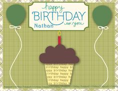 happy birthday nathan | By Nendy | Published September 13, 2012 | Full size is 1100 × 850 ...