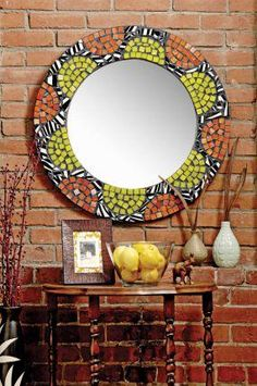DIY Create a Mosaic Mirror DIY Mirror DIY Home DIY Decor