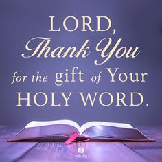 Thank You for Your Holy Word,