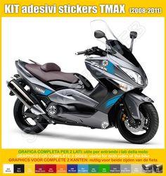 Adesivi Stickers moto motorcycle Yamaha TMAX di PIMAstickerslab