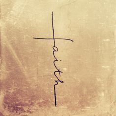 Yes! Tattoo of the word faith in shape of a cross. Let your faith be bigger than your fears. - Tattoos Are Great