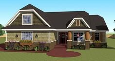 *** Traditional House Plan 42616