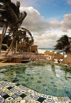 illusionwanderer: Poolside by hello it's joe Tulum, Mexico - anyone else seeing a massive sampler quilt project? Vacation Places, Vacation Destinations, Dream Vacations, Vacation Spots, Places To Travel, Tulum Mexico, Oh The Places You'll Go, Places To Visit, Mykonos