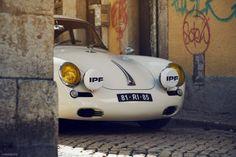 Portuguese Porsche 356 Is An Outlaw Roaming Lisbon Volkswagen Bus, Vw Camper, Volkswagen Beetles, Vintage Porsche, Vintage Cars, Porsche 356 Outlaw, Fast Sports Cars, Day Van, Cool Cars