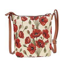 Signare sac de messager sac en bandoulière tapisserie mode femme Coquelicot