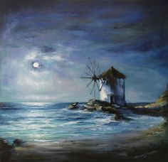 Windmill Framed Print by Tilemachos Kyriazatis