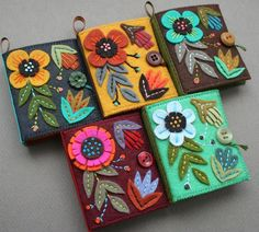 Just FYI, if your needles need a cozy, colorful home, five felt needle books are now in the shop !