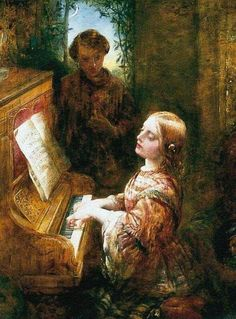 Alfred Joseph Woolmer - The Evening Hymn, c.1850s