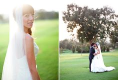 soft light #wedding #pictures in a field or park