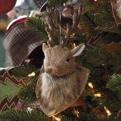 Mounted Deer Head Ornament  WAS $24.00 NOW $14.00