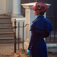 """Get a first look at Emily Blunt as Mary Poppins (I'm sure she'd be a lovely """"Eliza Doolittle"""" as well - My Fair Lady)"""