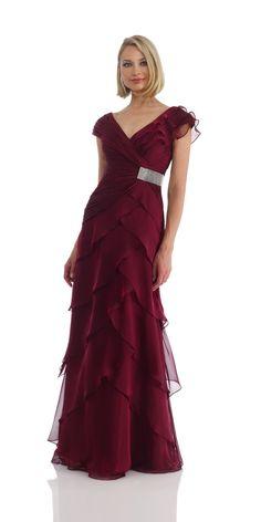 Classic V-neck A-Line/Princess Sleeveless Mother of the Bride Dress