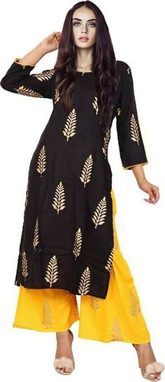 ef9801faa70 Designer Rayon Kurta with Palazzo Shop Now - GlowRoad
