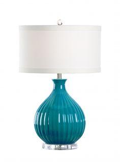 "ROSALAND LAMP-TURQUOISE wildwood lamps 25.5"" 46952"