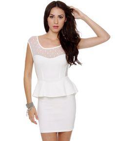 Flirt and Flutter Mesh Ivory Dress :)