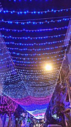 Christmas neon light, vietnam small town   UB