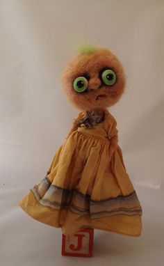 Jackie the jack o lantern ooak art doll hand by papermoongallery, $69.00