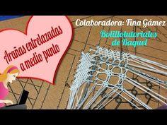 Mi primera puntilla de encaje. Bolillotutorial nº2 Onda punto de Lienzo Raquel M. Adsuar - YouTube Needle Lace, Bobbin Lace, Lace Heart, Lace Jewelry, Lace Making, Irish Crochet, String Art, Lace Detail, Tatting